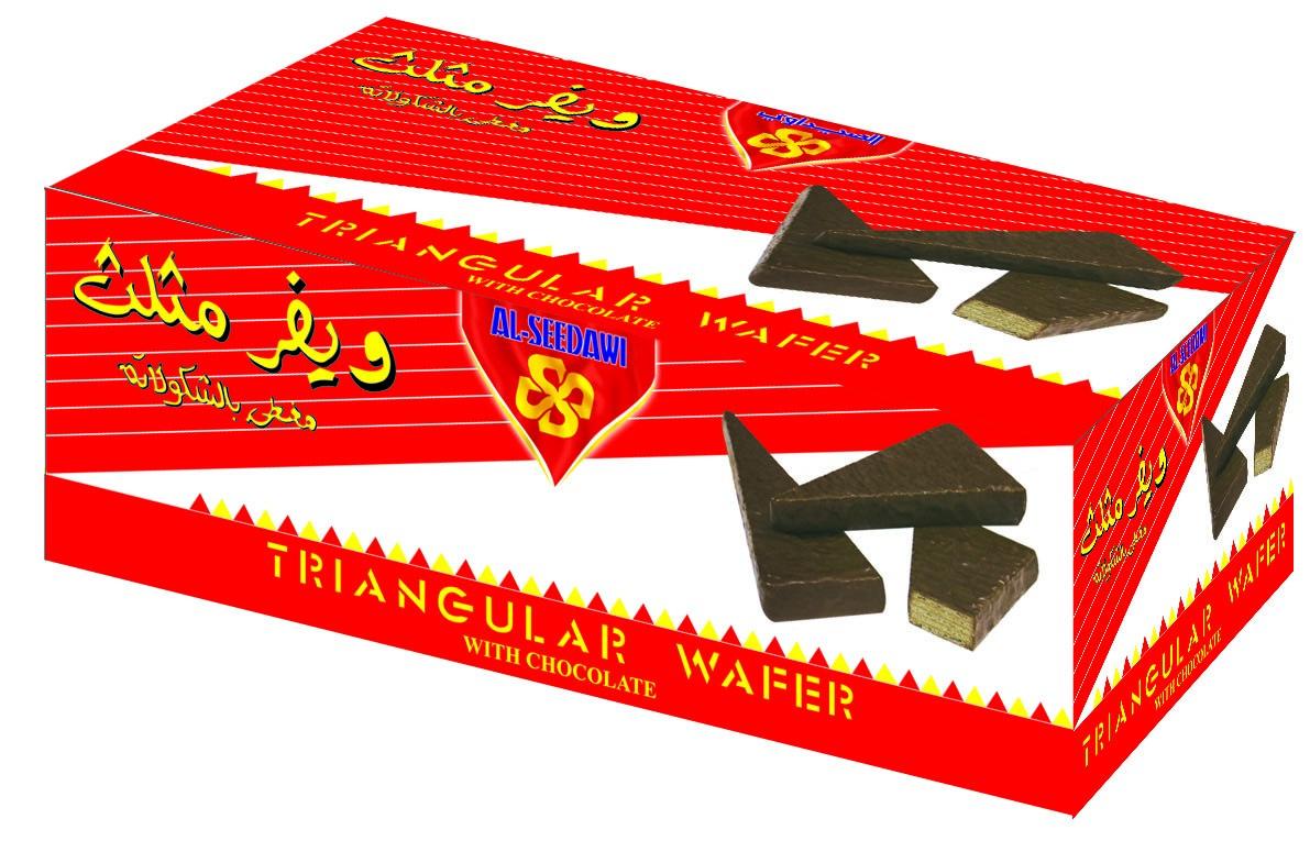 ويفر مثلث مغطي بالشوكولاتة باكيت 32 حبة * 25 جم