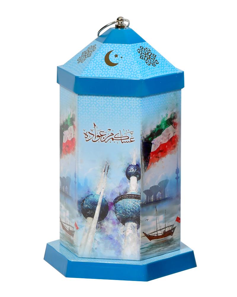 فانوس للقرقيعان فارغ علم الكويت